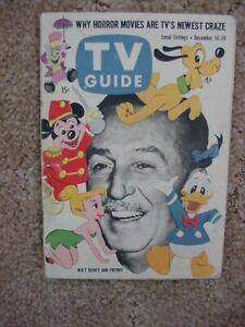 TV GUIDE*1957*WALT DISNEY ON THE COVER*SCRANTON-WILKES-BARRE EDITION*RARE*