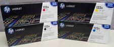 Set 4 New Factory Sealed Genuine HP Q3960A Q3961A Q3962A Q3963A Cartridges 122A