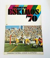 1970 Canadian Football League Illustrated VOL. I #4 CFL EDMONTON ESKIMOS