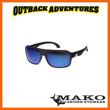 Mako Sunglasses GT Matt Black Frame Blue Mirror Glass Lens M01-g1hr6