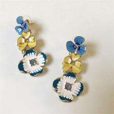 CG2539....PRETTY ENAMELLED FLOWER EARRINGS - FREE UK P&P