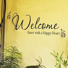 Huhome PVC Wall Stickers Wallpaper English Welcome Enter removable decorative ho