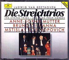 Anne-Sophie MUTTER Signed BEETHOVEN ROSTROPOVICH DG 2CD Streichtrios String Trio
