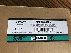 Panduit CPP48WBL 48-Port Flat Flush-Mount Patch Panel, Black