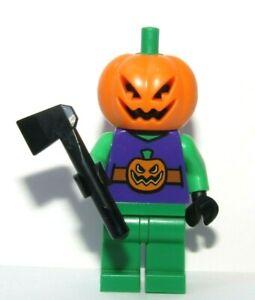 Lego Halloween Monster  Minifigure  Jack O Lantern Pumpkin & Axe
