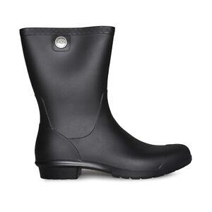 UGG SIENNA MATTE BLACK WATERPROOF RUBBER WOMEN'S BOOTS SIZE US 9/UK 7/EU 40 NEW