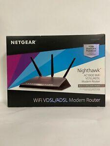 Netgear D7000-100NAS Nighthawk AC1900 WiFi VDSL/ADSL Modem Router