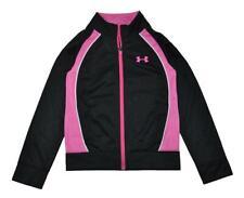 Under Armour Girls Black & Pink Track Jacket Size 5