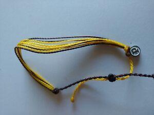 Classic Pura Vida Bracelet, Never Used, Perfect Condition: Yellow & Choc Brown
