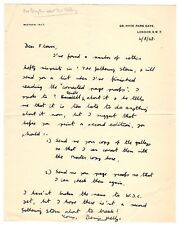 4 August 1948 holograph letter from Denis Kelly to Desmond Flower of Cassell