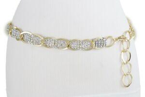 Women Gold Metal Chain Silver Bling Strap Belt Hip High Waist XS S M L XL XXL