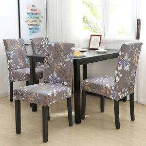Dining Chair Cover Stretch Armchair Seat Covers Soft Spandex Slipcover Protector