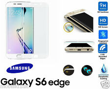 Samsung Galaxy S6 Edge 3D Curved WHITE Tempered LCD Glass Screen Protector