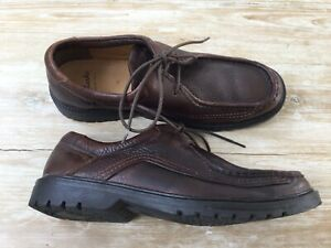 Clarks Brown Leather Cushion Cell Shoes Size 10 Excellent Condition