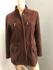 SPORTSCRAFT dark brown corduroy winter jacket fits 10 12  EUC