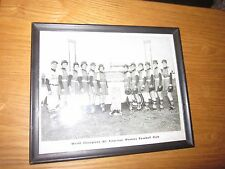 1950's original World Champions All American Womens Baseball Club framed photo