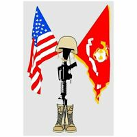 USMC MARINE CORPS FALLEN HERO WINDOW STICKER DECAL 5.5""
