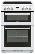 Bush BLC60DBL Free Standing 22L 59.5cm Electric Cooker Ceramic 4 Zone Hob White