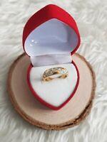 Vintage costume jewellery gold tone dress ring