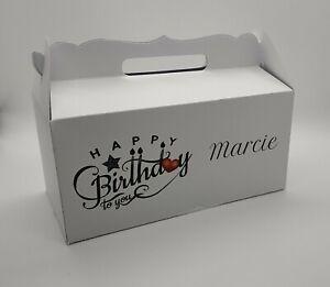 "Personalised Any Name - ""Happy Birthday Candles"" - Elegant Gable Gift Box"