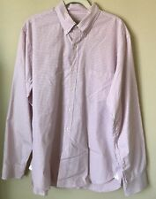 J Crew Mens Pink White Check Plaid Button Down Long Sleeve Shirt Cotton Large