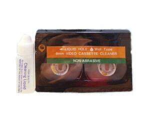 8mm / Hi8 / Digital8 Camcorder Wet Video Head Cleaning Cassette VC-200 V8-6CLD