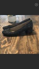 Old Navy Black Sparkle Shoes Size 9 Women's EUC Glitter Block Heels Pumps