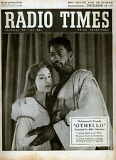 RADIO TIMES 11 DEC 1955 . OTHELLO ROSEMARY HARRIS FRONT COVER . BILLY BUNTER