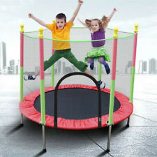 Kids Trampoline with Enclosure Net and Spring Cover Padding Outdoor Trampoline