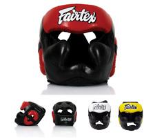 New Fairtex  HGL13 Full head Coverage Head Guard Boxing Headgear black red white
