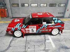 LANCIA Delta HF 16V Rallye San Remo #5 Auriol 1991 red Martini IXO TR9 SP 1:18