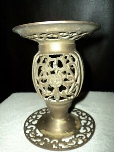 Vintage Brass Candle Holder. Pretty!