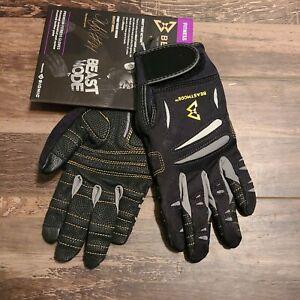 Bionic Gloves Beastmode Premium Women's Full Finger Fitness Gloves Medium Black