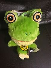 Multipet Knobby Noggins Frog Squeaky Plush Dog Toy Bumpy Head Cuddle Buddies