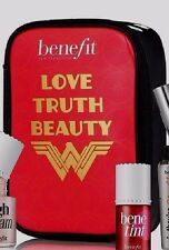 Benefit Cosmetics Love Truth Beauty Wonder Woman Makeup Bag - New and Sealed