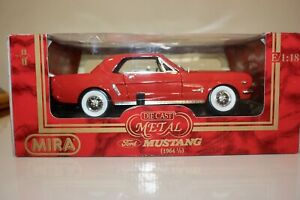 MIRA 1/18 Scale Ford Mustang (1964 1/2) Red Hardtop Golden Line MPN 6126