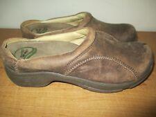 Dansko Women's Size 37 Brown Leather Slip on Clogs - Nice - Fast Shipping