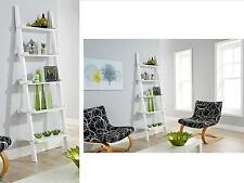 Ladder Book Shelf 5 Tier Display Shelving Stand Wall Rack Storage Unit White