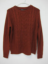 Brave Soul Daisy Cable Jumper Sweater - Mens Large - Burgundy - NWT
