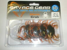 Savage Gear 3D Manic Crab 5cm 10g 4pk ALL VARIETIES Sea fishing tackle