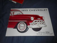 1957 Chevrolet 150 210 Nomad Corvette Bel Air Large Brochure Catalog PROSPEKT