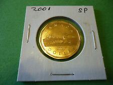 Rare 2001 Canada 1 Dollar, Loonie, Specimen.