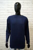 Felpa Uomo VALENTINO Taglia 2XL Maglione Blu Sweater Man Cardigan Cotone Casual