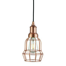 Copper Tapered Cage Shade Ceiling Pendant Light Fitting Home Office Lighting New