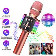 48Licht Karaoke Mikrofon bluetooth Wireless Lautsprecher Mic KTV Handheld