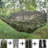 Portable Outdoor Camping Hammock Swing Hanging Bed Sack Anti-Mosquito Net
