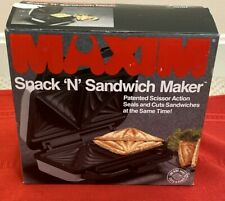 Vintage 1990 White Maxim Electric Snack n Sandwich Maker SM-20