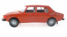 Stahlberg - Saab 99 GL 4-Door 1977 rot-orange + bag 1:20 Finland Plastik Model 1