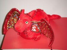 "Ty Classic Fossils Dragon Red & Gold 13"" Plush 2007 MWT Stuffed Animal"