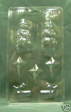 SNOWMAN & STAR CHRISTMAS CHOCOLATE MOULDS - fimo/sugar